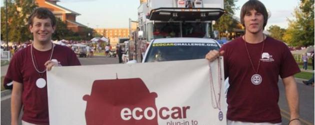 EcoCAR driven in MSU homecoming parade